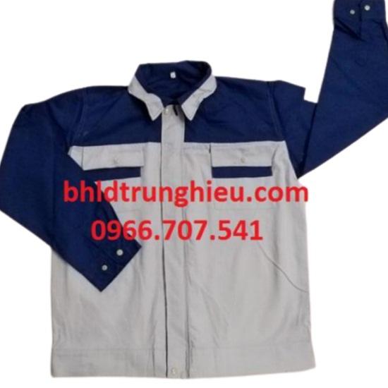 Bảo hộ lao động trung hiếu  ÁO BẢO HỘ LAO ĐỘNG GHI PHỐI XANH BA006